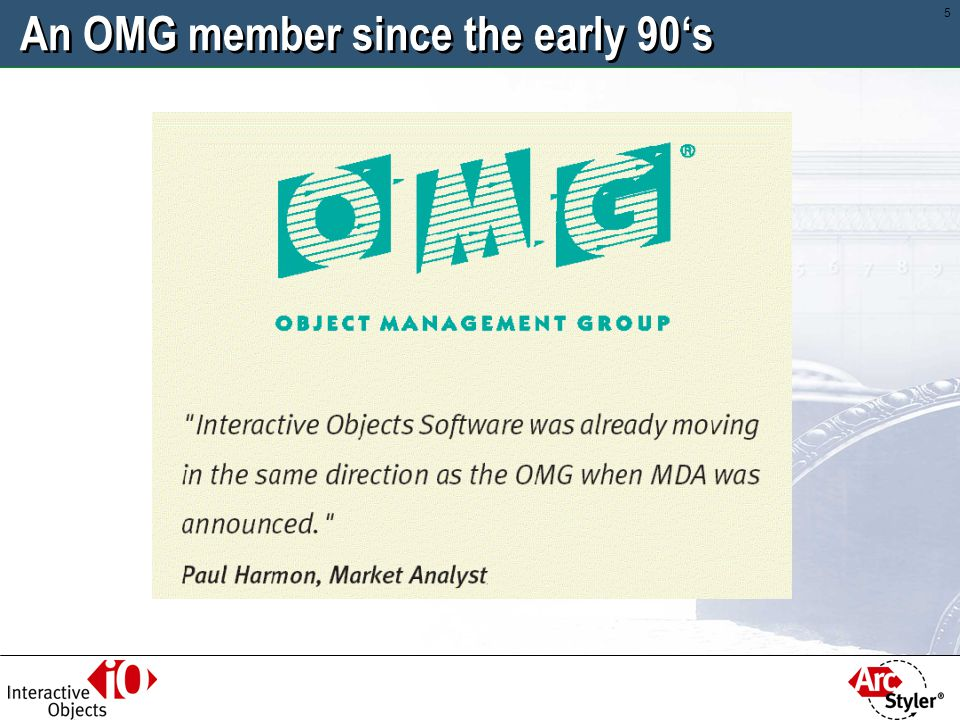 An OMG member since the early 90's