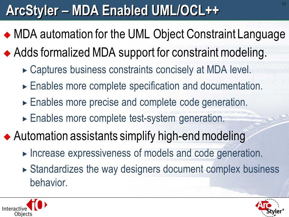ArcStyler – MDA Enabled UML/OCL++