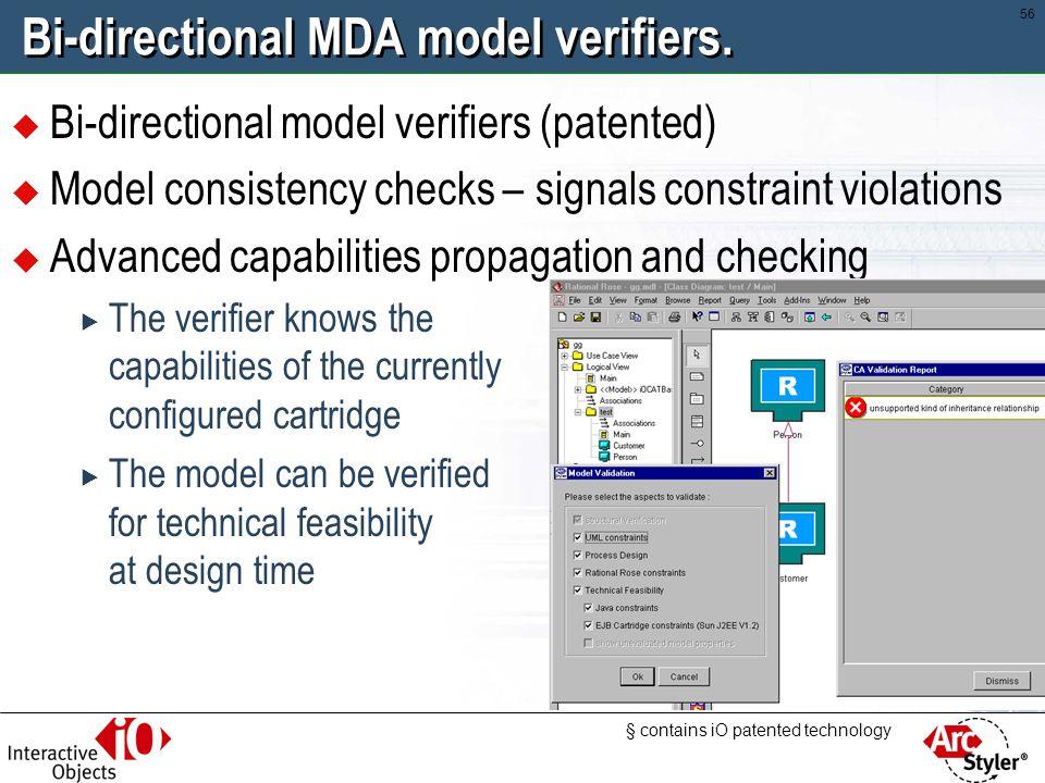 Bi-directional MDA model verifiers.