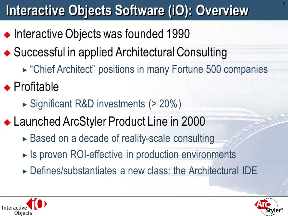 Interactive Objects Software (iO): Overview
