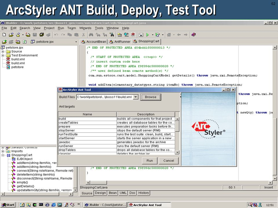 ArcStyler ANT Build, Deploy, Test Tool