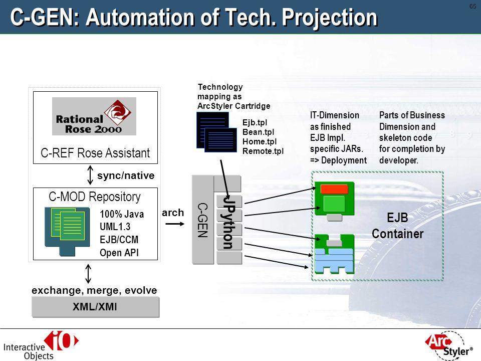 C-GEN: Automation of Tech. Projection