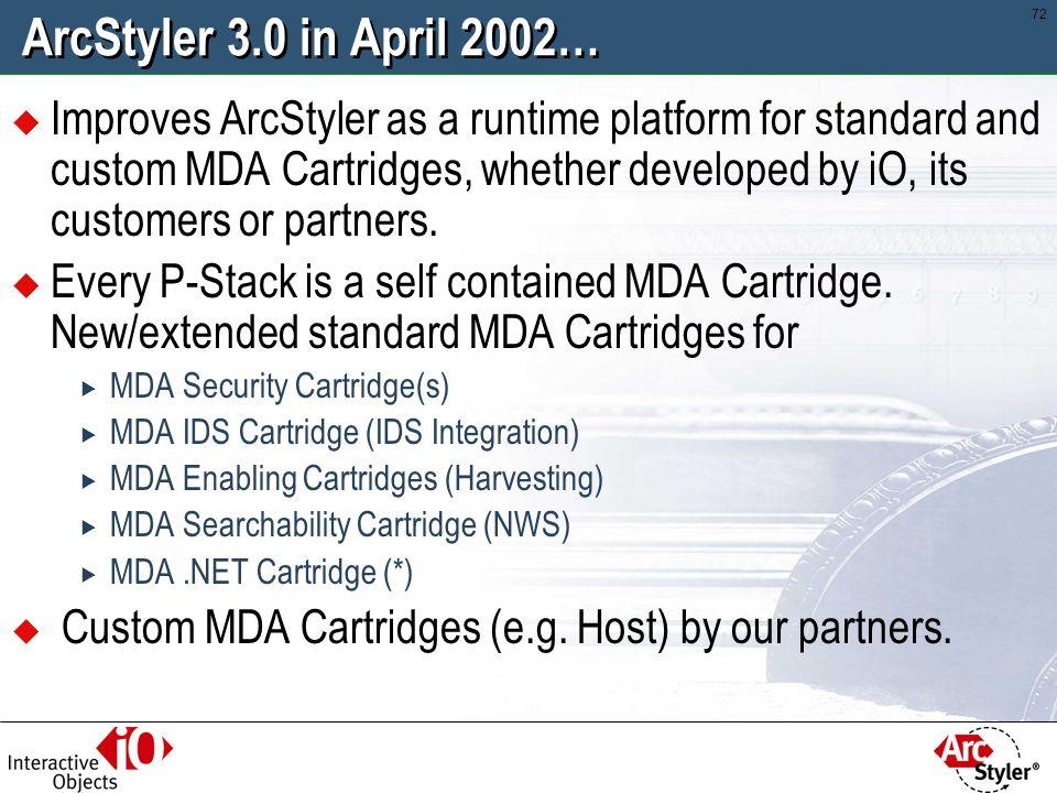 ArcStyler 3.0 in April 2002…