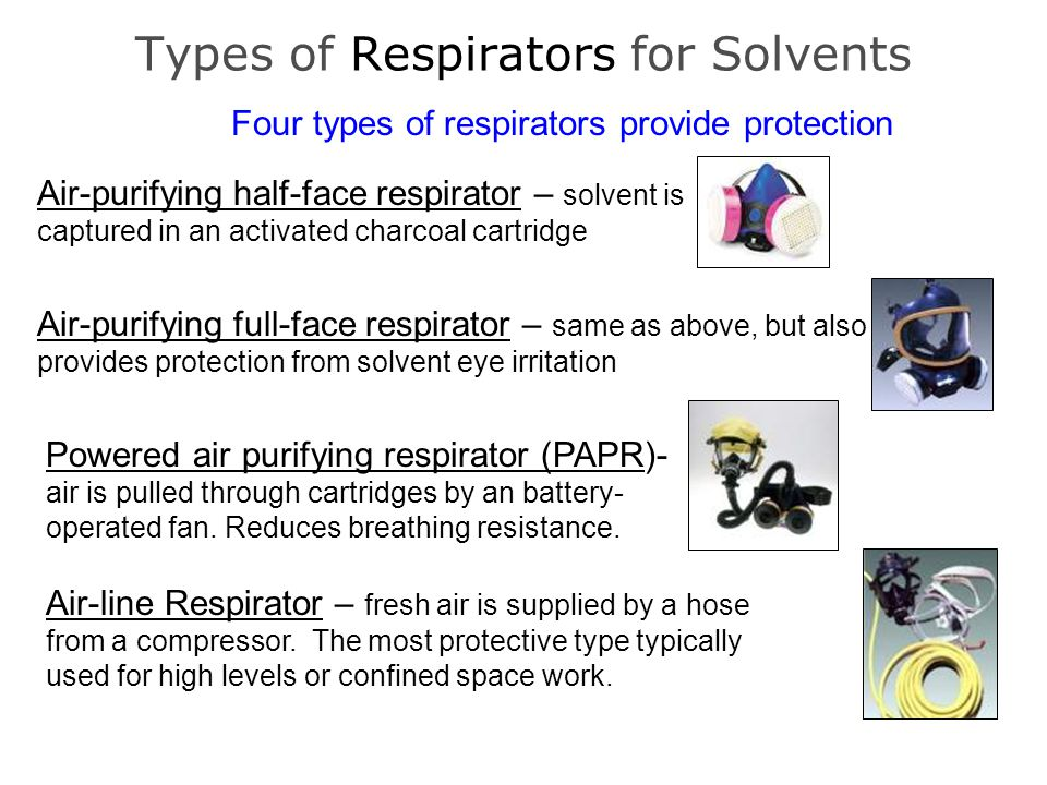Types of Respirators for Solvents