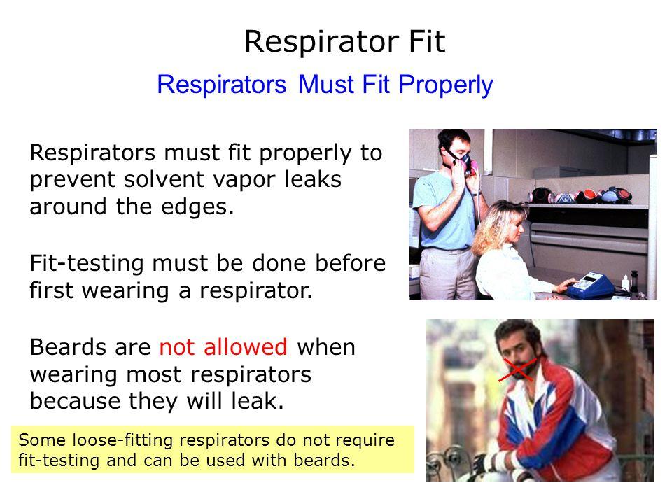 Respirators Must Fit Properly