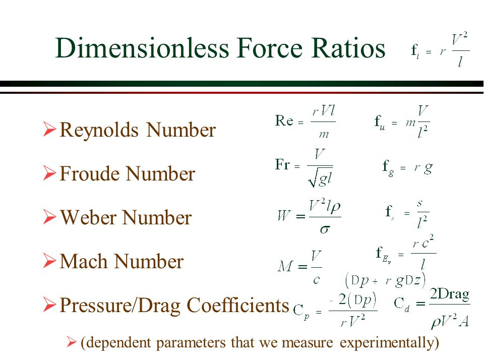 Dimensionless Force Ratios