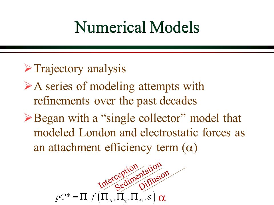 Numerical Models Trajectory analysis