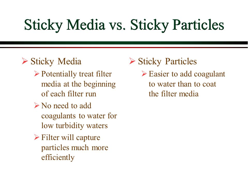 Sticky Media vs. Sticky Particles