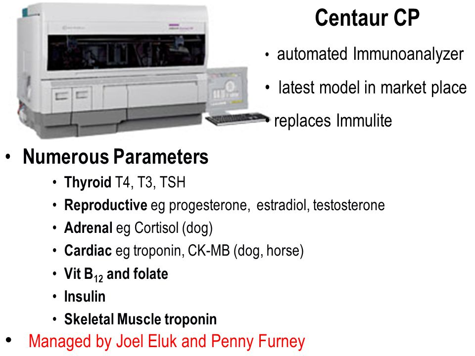 Centaur CP Numerous Parameters Managed by Joel Eluk and Penny Furney