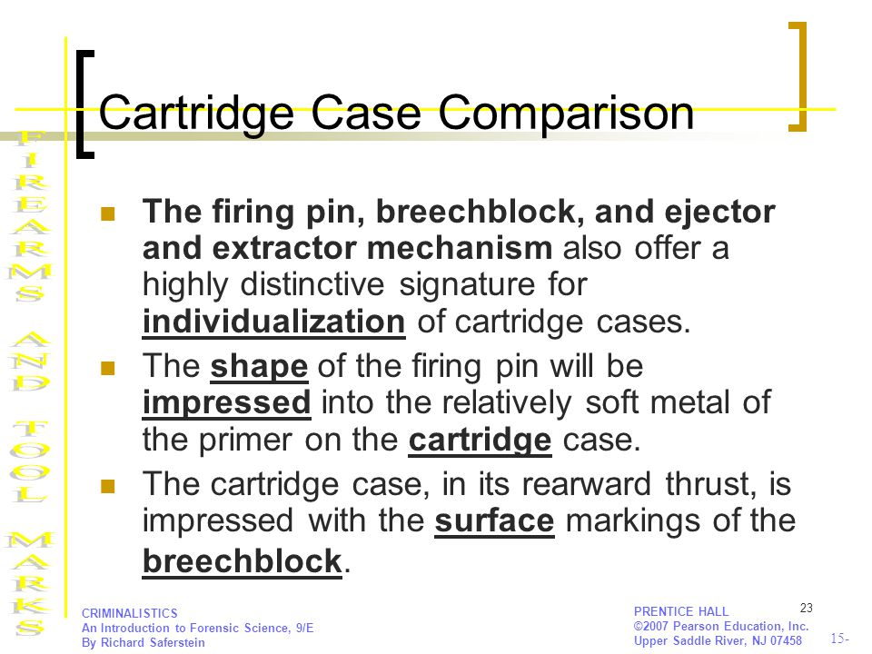 Cartridge Case Comparison