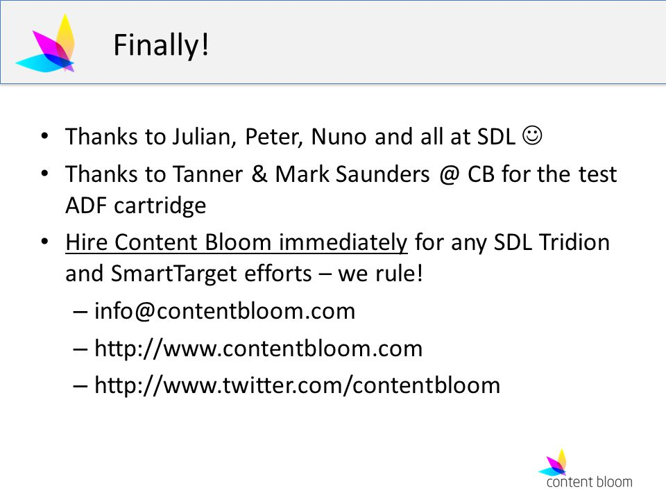 Finally! Thanks to Julian, Peter, Nuno and all at SDL 