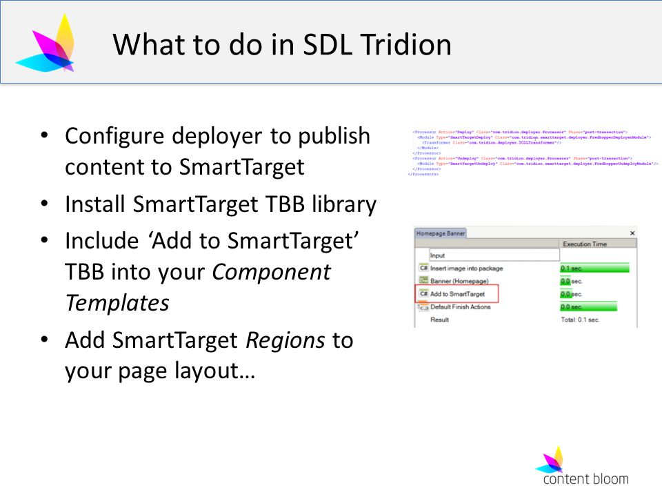 What to do in SDL Tridion