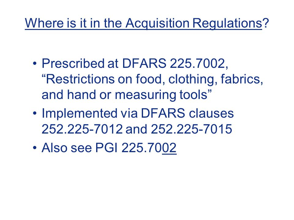 Where is it in the Acquisition Regulations