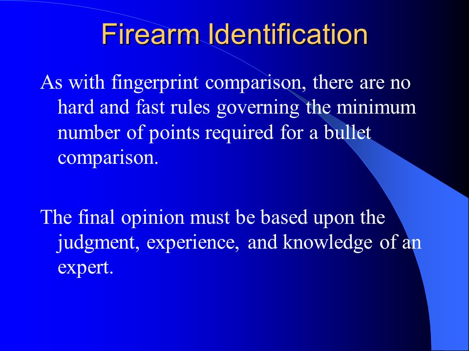 Firearm Identification