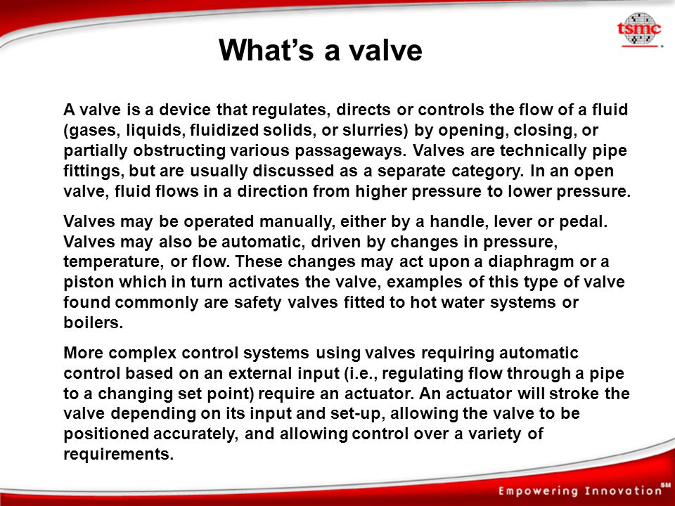 What's a valve