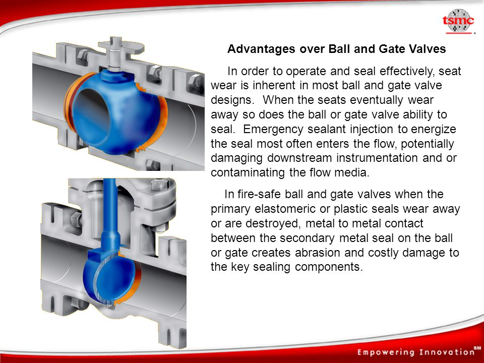 Advantages over Ball and Gate Valves