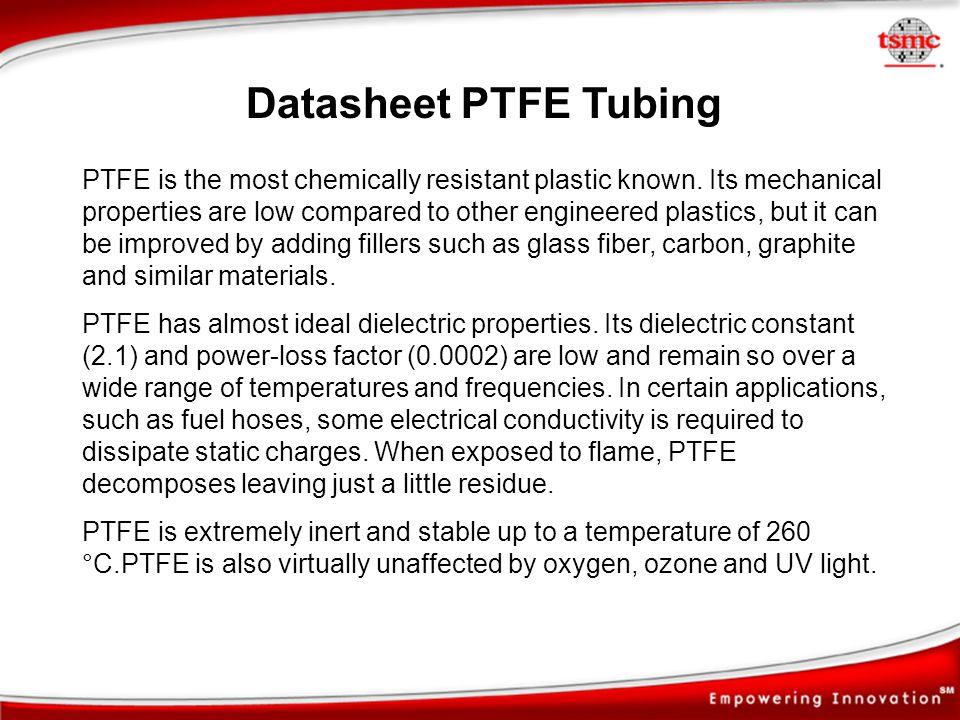 Datasheet PTFE Tubing