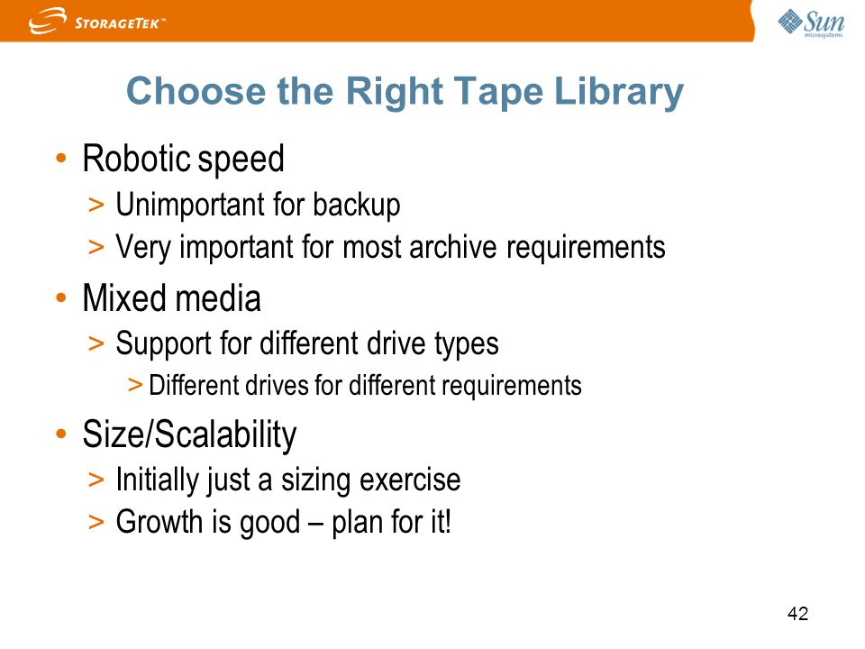 Choose the Right Tape Library