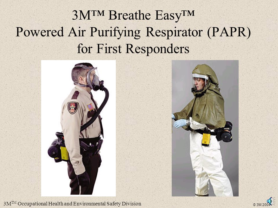 3M™ Breathe Easy™ Powered Air Purifying Respirator (PAPR) for First Responders