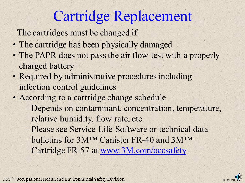Cartridge Replacement