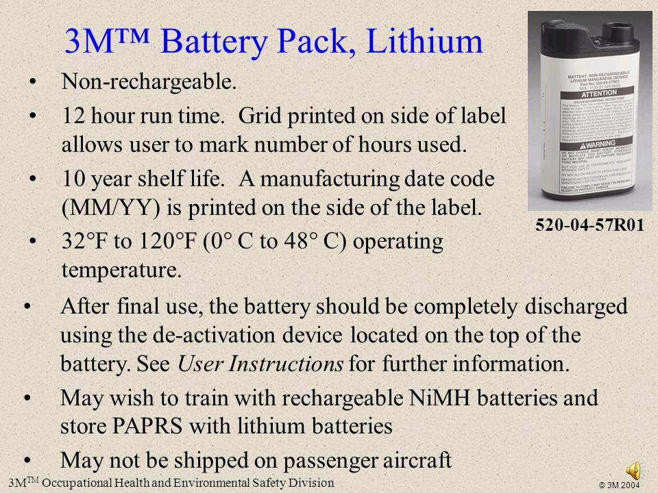 3M™ Battery Pack, Lithium