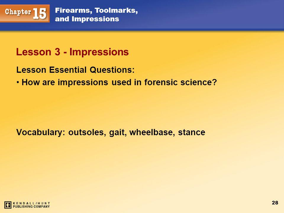Lesson 3 - Impressions Lesson Essential Questions: