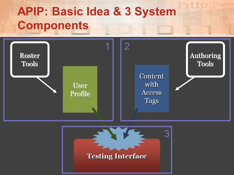 APIP: Basic Idea & 3 System Components