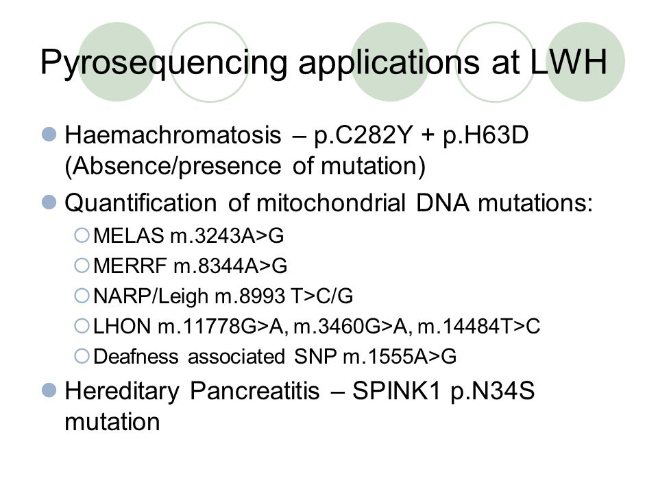 Pyrosequencing applications at LWH