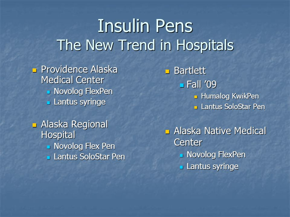Insulin Pens The New Trend in Hospitals