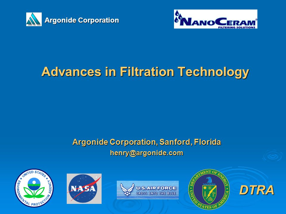 Advances in Filtration Technology