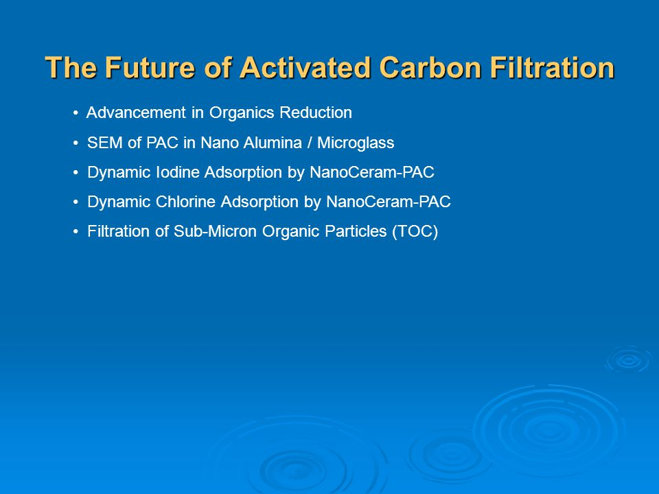 The Future of Activated Carbon Filtration