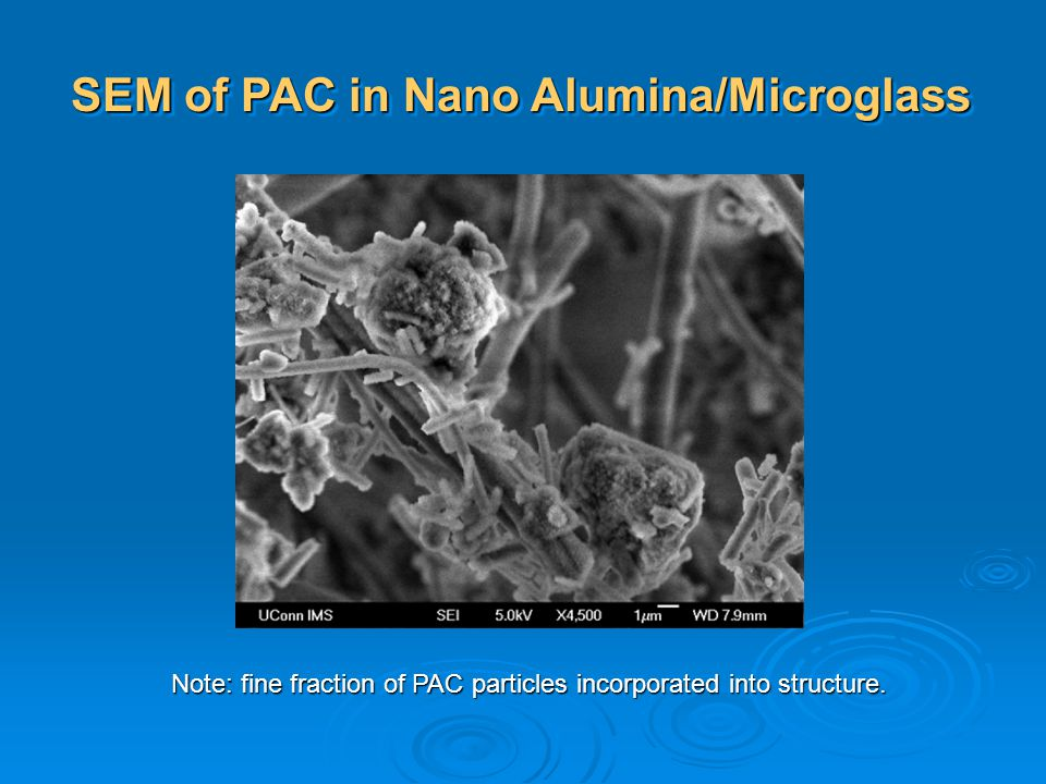 SEM of PAC in Nano Alumina/Microglass