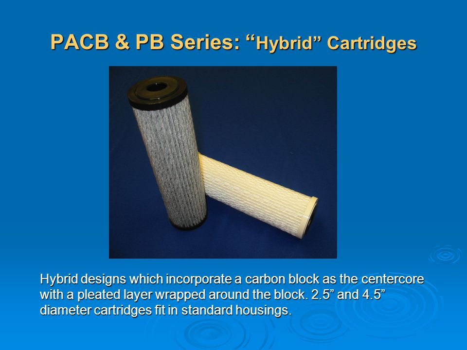PACB & PB Series: Hybrid Cartridges