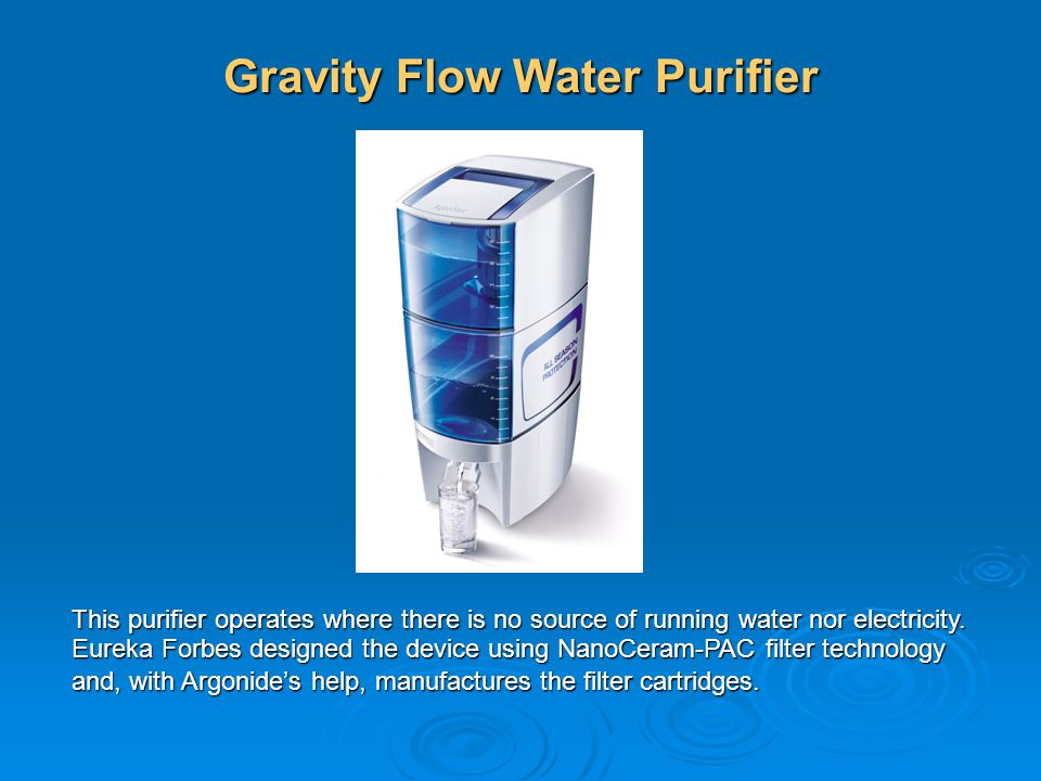 Gravity Flow Water Purifier