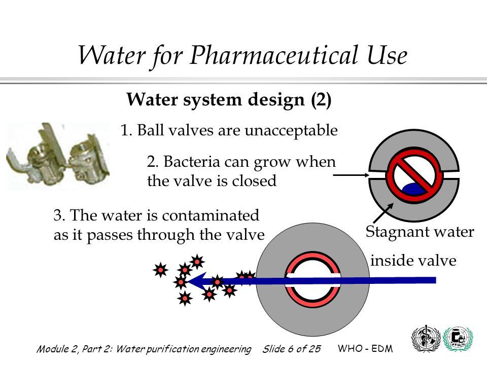 1. Ball valves are unacceptable