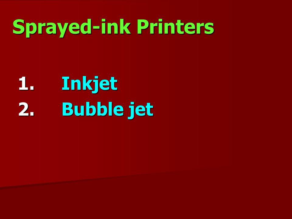 Sprayed-ink Printers Inkjet Bubble jet