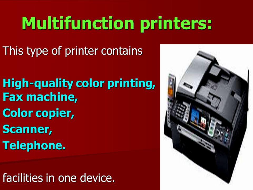 Multifunction printers: