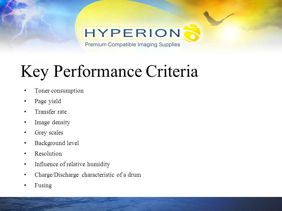 Key Performance Criteria