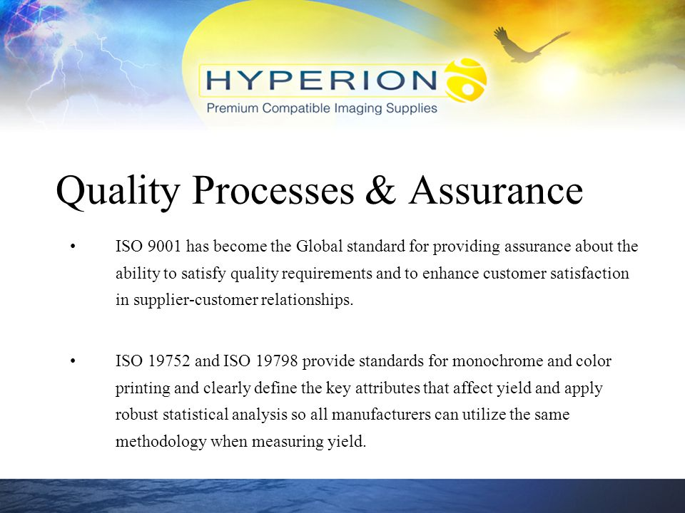 Quality Processes & Assurance
