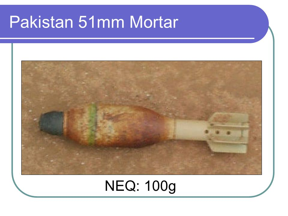 Pakistan 51mm Mortar NEQ: 100g