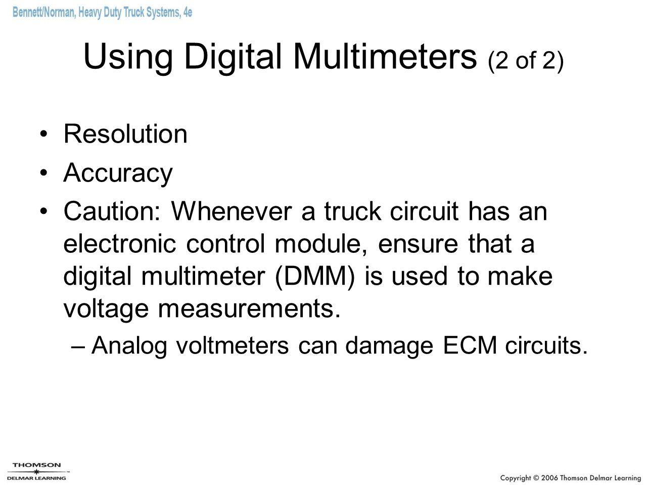 Using Digital Multimeters (2 of 2)