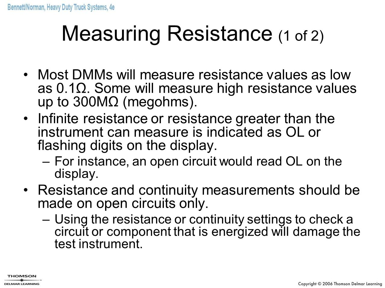 Measuring Resistance (1 of 2)