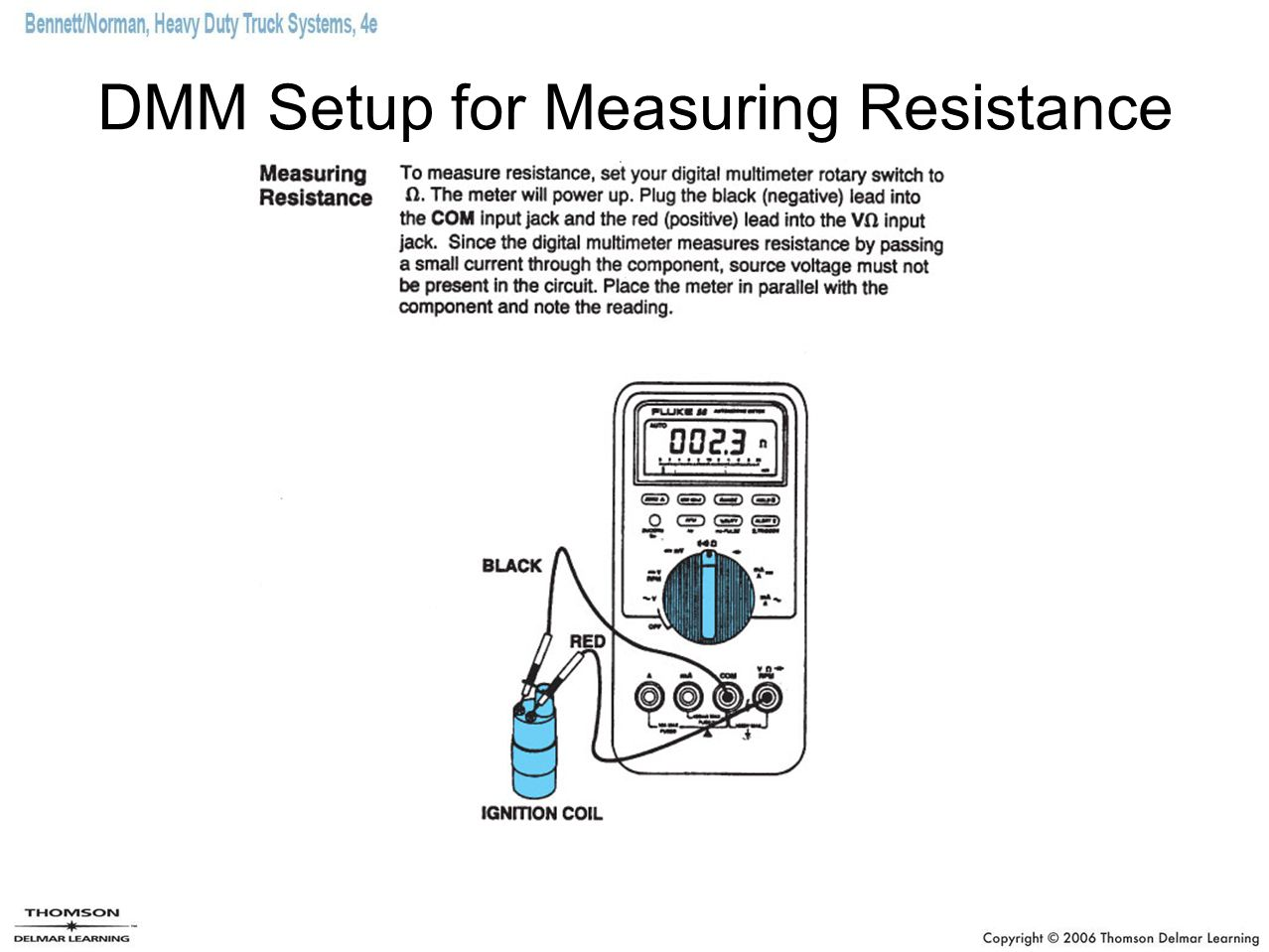 DMM Setup for Measuring Resistance
