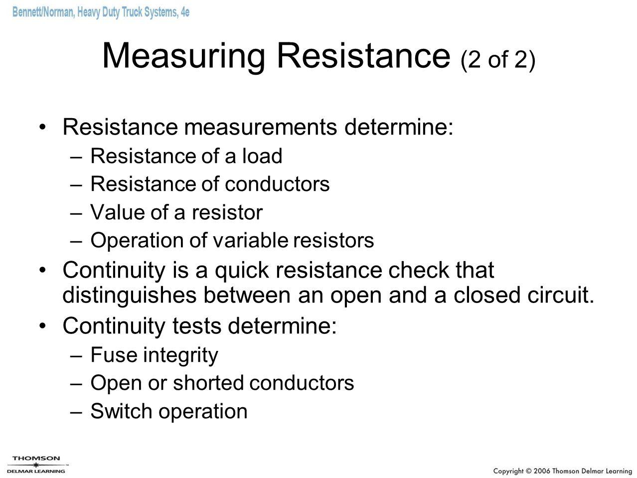 Measuring Resistance (2 of 2)