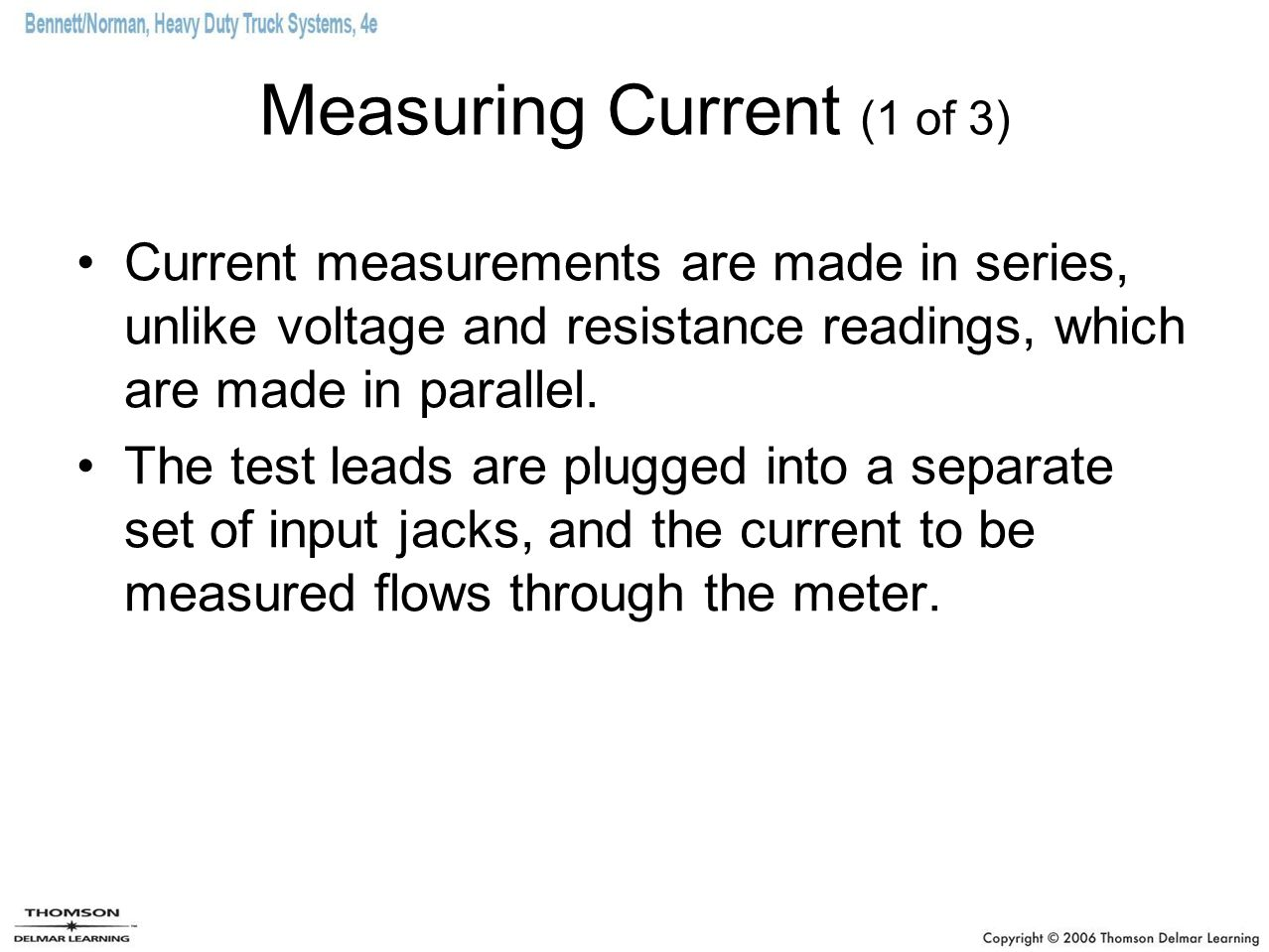 Measuring Current (1 of 3)