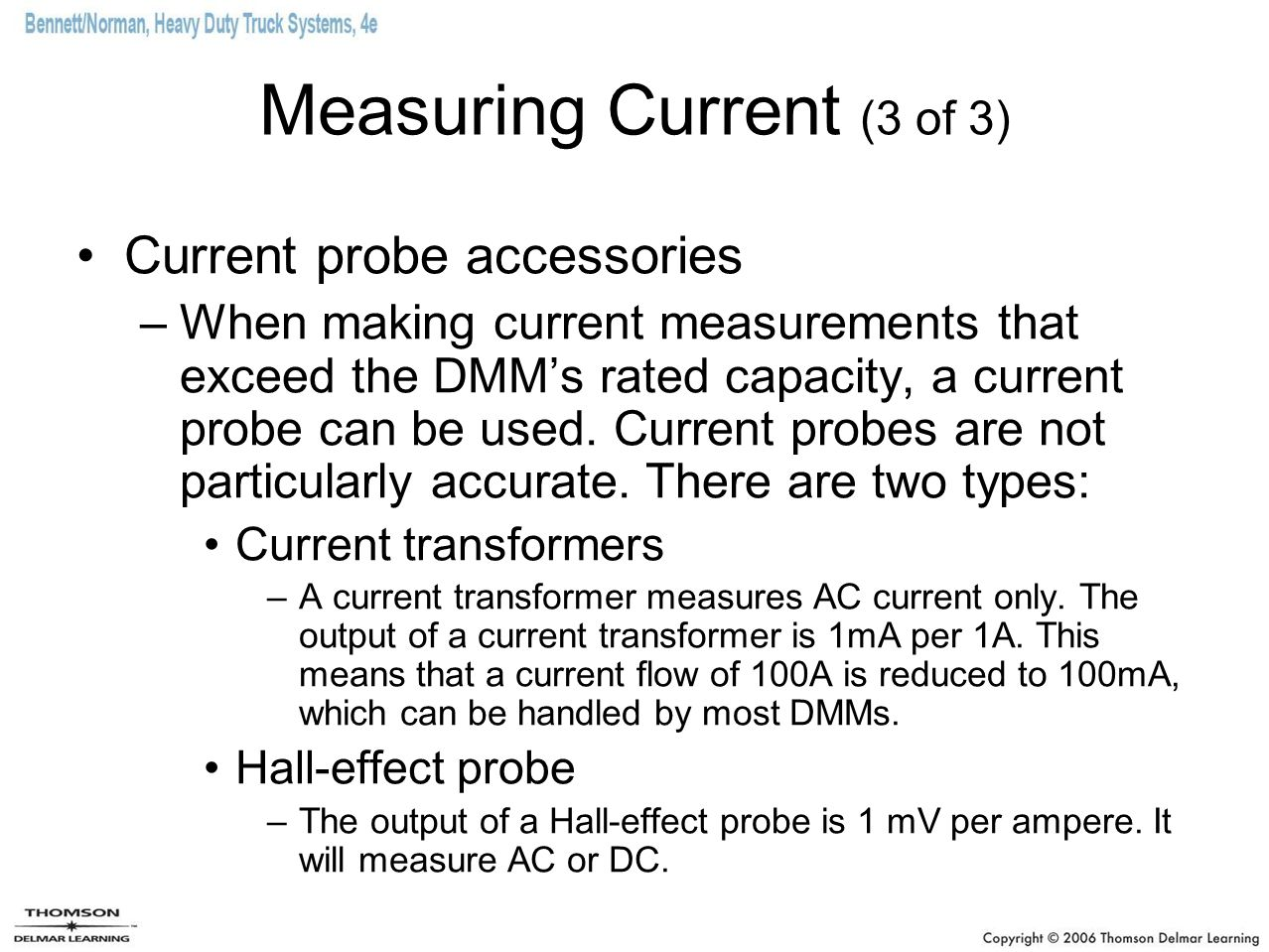 Hall Effect Current Probe : Diagnosis and repair of electronic circuits ppt video