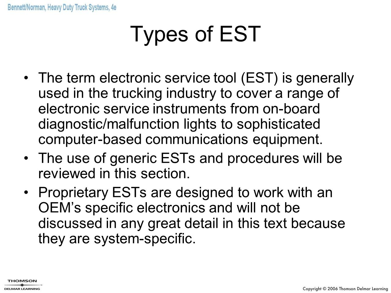 Types of EST