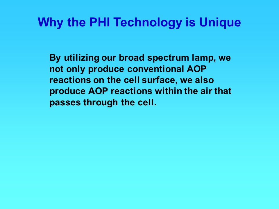 Why the PHI Technology is Unique