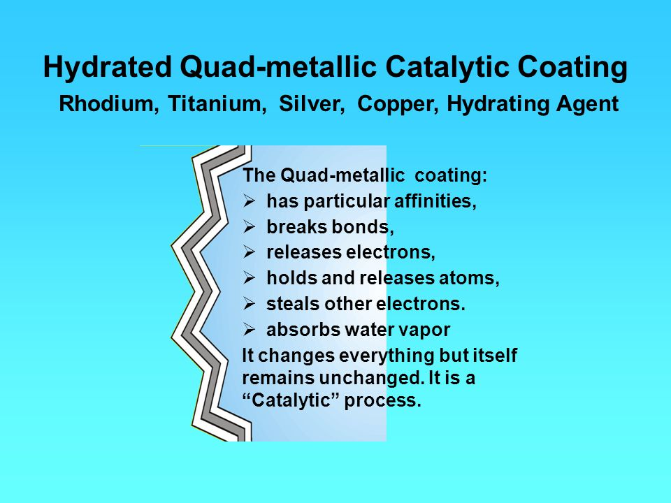 Hydrated Quad-metallic Catalytic Coating
