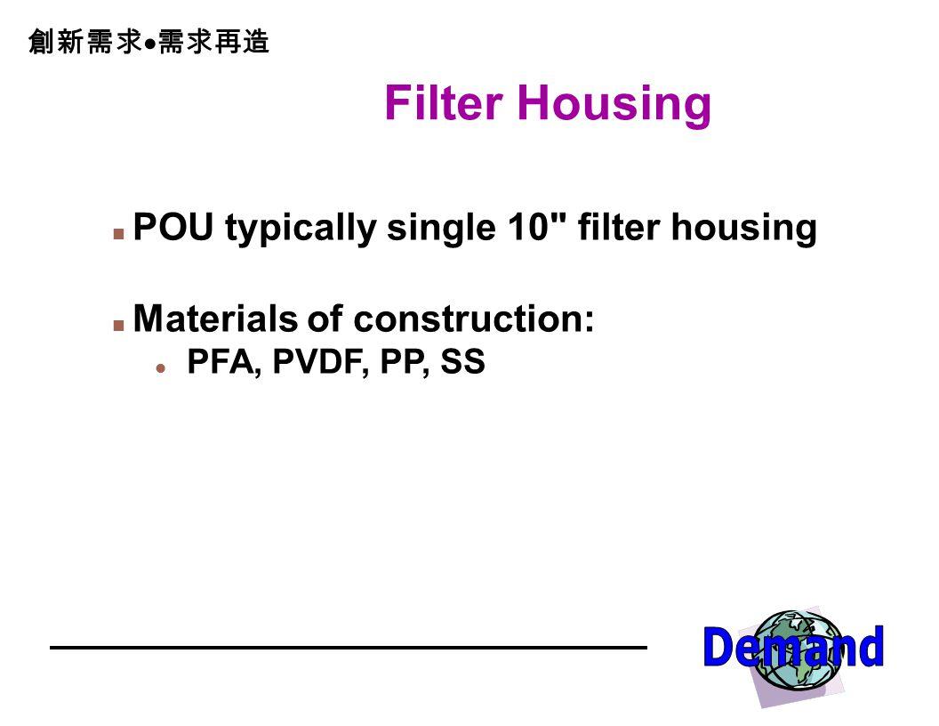 Filter Housing POU typically single 10 filter housing